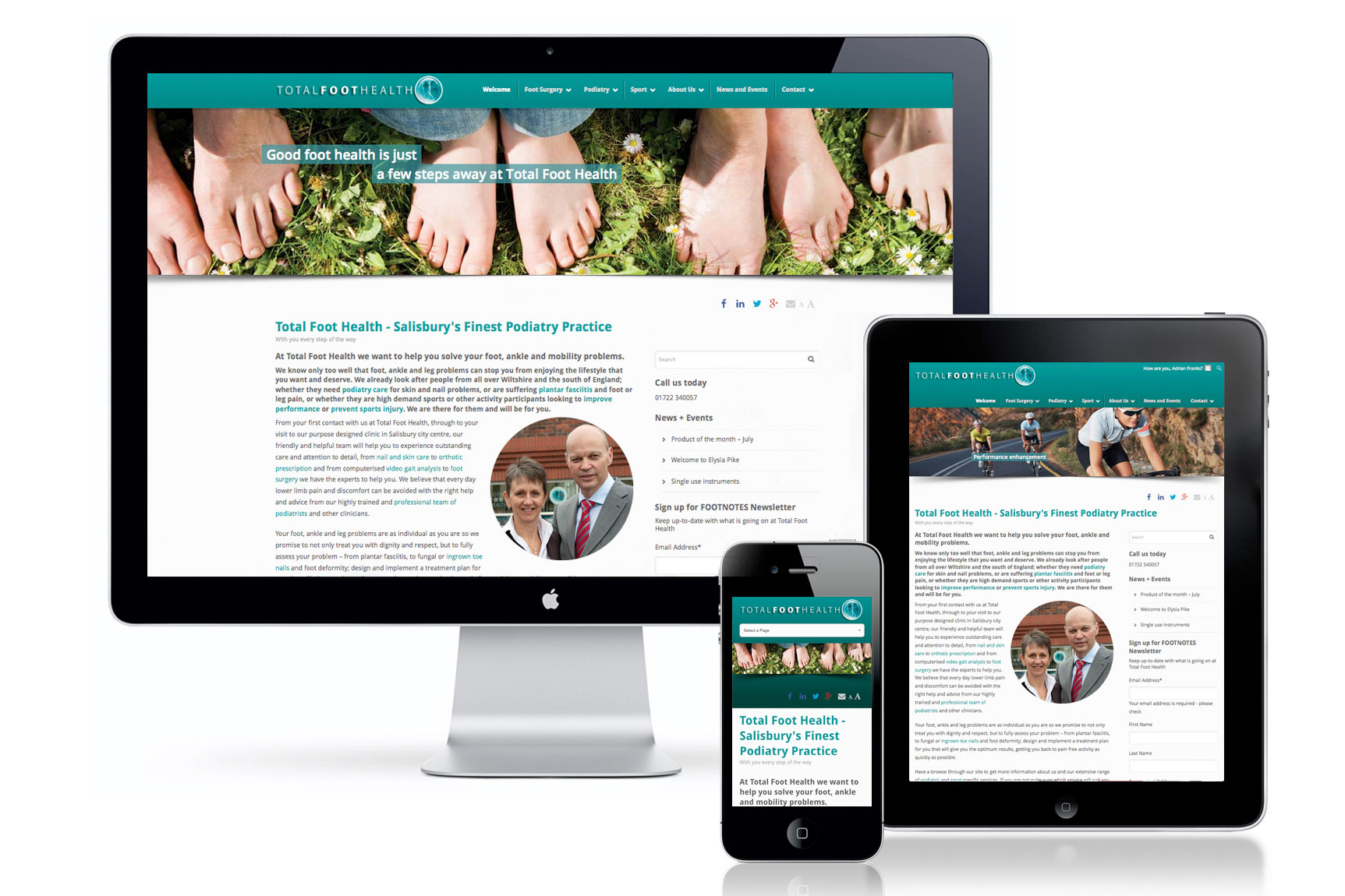 Total Foot Health responsive website
