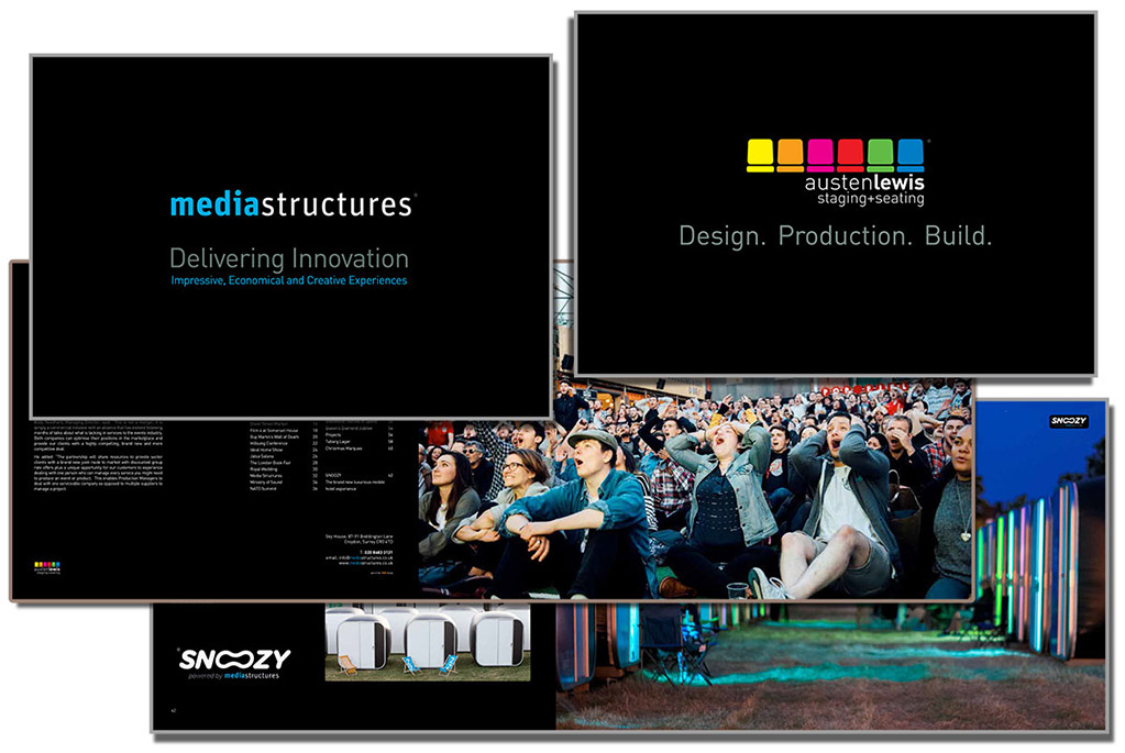 Media Structures company brochure design