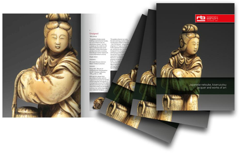 Japanese Art catalogue design