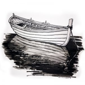 Tranquil boat - illustration by Creative Wisdom
