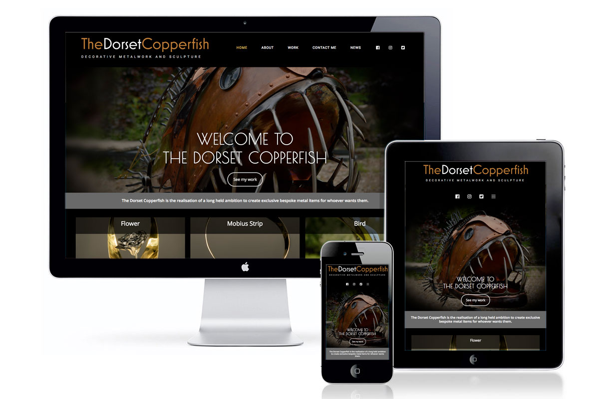 Web design - The Dorset Copper Fish