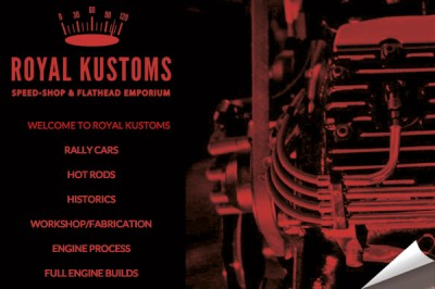 Royal Kustoms website by Creative Wisdom, Graphic design company Romsey, Southampton