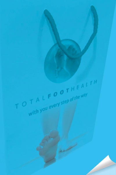 Total Foot Health design work by Creative Wisdom, Graphic design company Romsey, Southampton