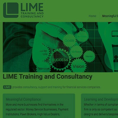 Lime training website by Creative Wisdom, Graphic design company Romsey, Southampton