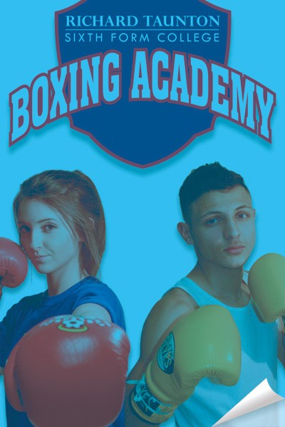 Richard Tauntons Sixth Form College Boxing Academy design work by Creative Wisdom, Graphic design company Romsey, Southampton